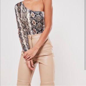 Missguided snakeskin bodysuit